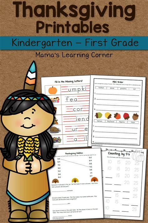 thanksgiving worksheet packet  kindergarten