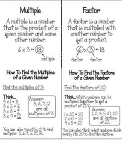 Factors And Divisibility Worksheets 4th Grade  Least Common Multiples Worksheet Grade 4 Great