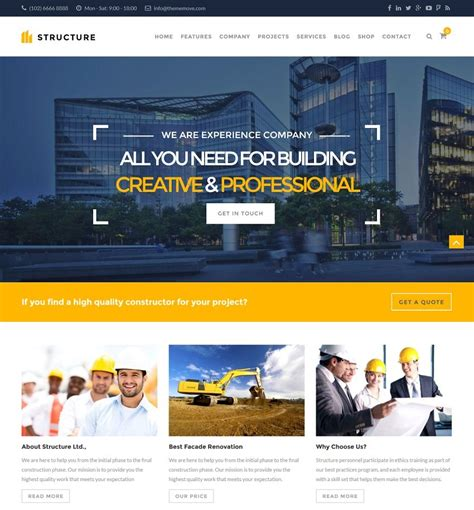 Website Construction Best Construction Themes 2018 Updated