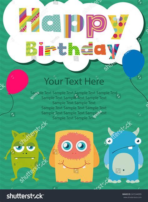 Happy Birthday Invitation Card Design Stock Vector