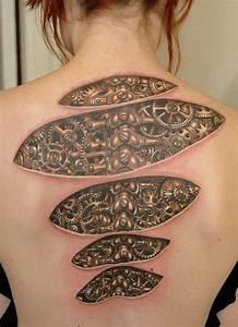 3d Tattoos Kosten : biomechanik tattoo 20 coole ideen und inspirierende bilder ~ Frokenaadalensverden.com Haus und Dekorationen