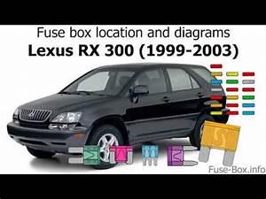 1999 Lexus Rx300 Fuse Diagram : fuse box location and diagrams lexus rx300 1999 2003 ~ A.2002-acura-tl-radio.info Haus und Dekorationen