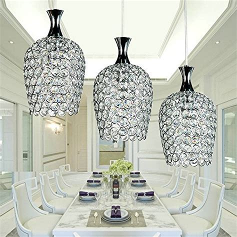 DINGGU? Modern 3 Lights Crystal Pendant Lighting for