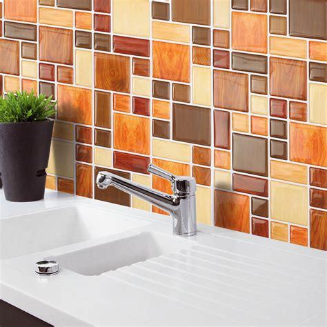 brown creative  mosaic wall stickers backsplash tile