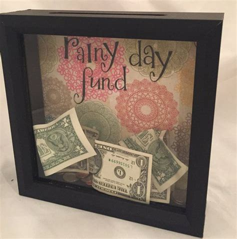 rainy day fund shadow box money bank shadow box