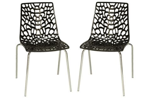 lot de 2 chaises anthracites traviata chaises design pas cher
