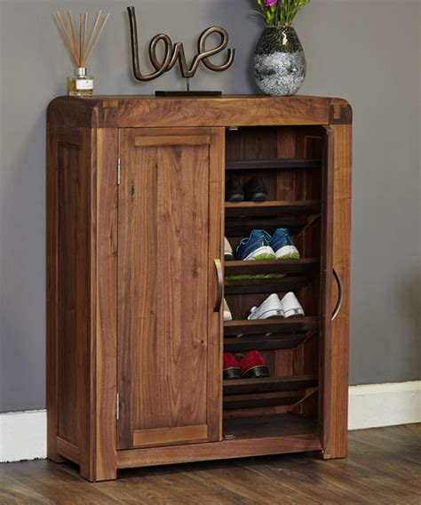Shoes Cupboard by Store Solid Walnut Shoe Storage Cupboard Shiro