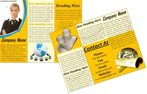10 Best Images Of Printable Brochure Templates Blank Tri Brochure Templates Word Exle Mughals