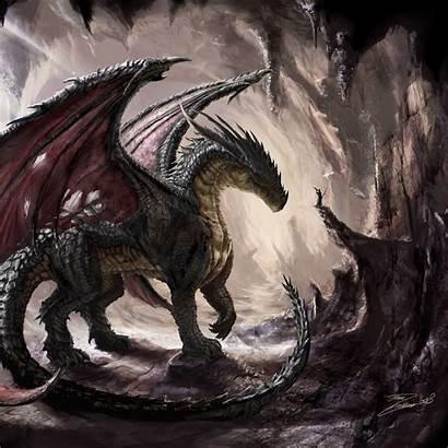 Dragon Cave Dragones Fantasy Background Ipad Dragons
