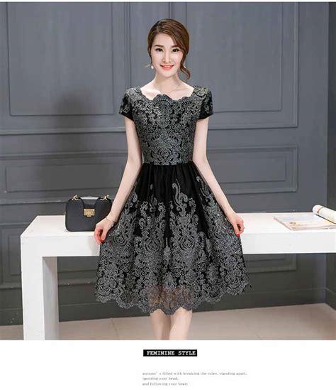 Dress Wanita Brokat Elegant Terbaru 2018  Model Terbaru