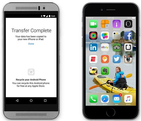 move to iphone move to ios app allows for no hassle android to ios data