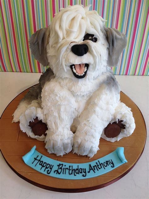 amazing cake shaped   happy dog enjoy rushworld