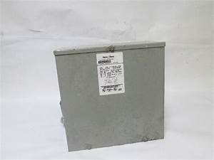 Federal Pacific Te4d3f Power Transformer 480v Primary 208y
