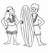 Coloring Luau Pages Printable Hawaiian Hawaii Sheets Printables Themed Recycling Popular Adults Coloringhome Fun Site sketch template