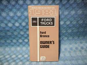 1981 Ford Bronco Nos Owners Manual Guide  U2013 Nos Texas Parts