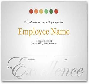 the 25 best certificate of recognition template ideas on With employee recognition awards templates