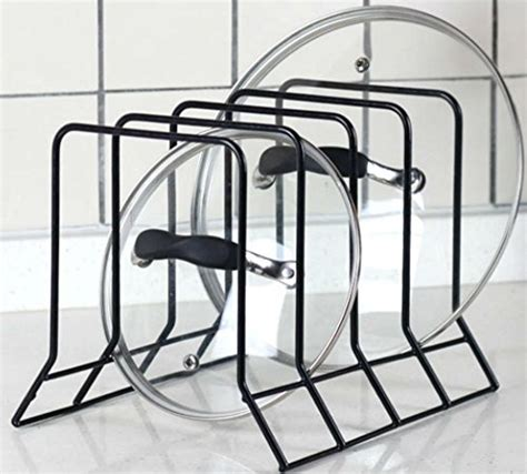 bth  expandable kitchen pan  pot organizer rack stores  pans   extended