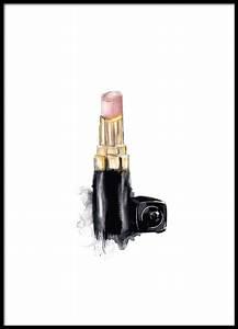 Coco Chanel Bilder : poster plakat mit chanel lippenstift fashion poster online ~ Cokemachineaccidents.com Haus und Dekorationen