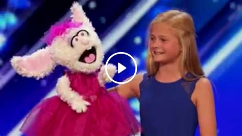 Video: Girl brought to tears after singing rabbit puppet ...