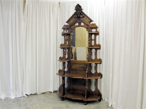 Etageres For Sale by Antique Walnut Style Renaissance Etagere For