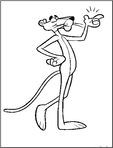 Kleurplaat Panter by Pink Panther Coloring Pages And Print For Free
