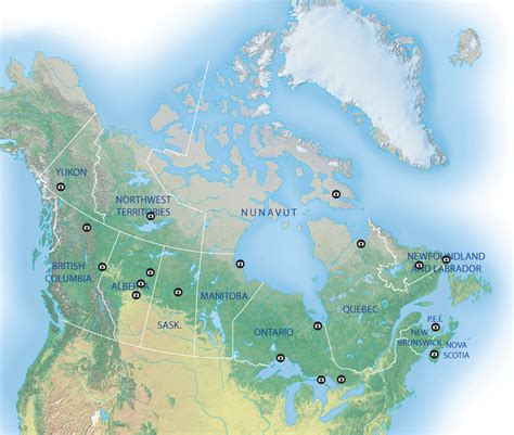 this map shows the best places in canada to view the