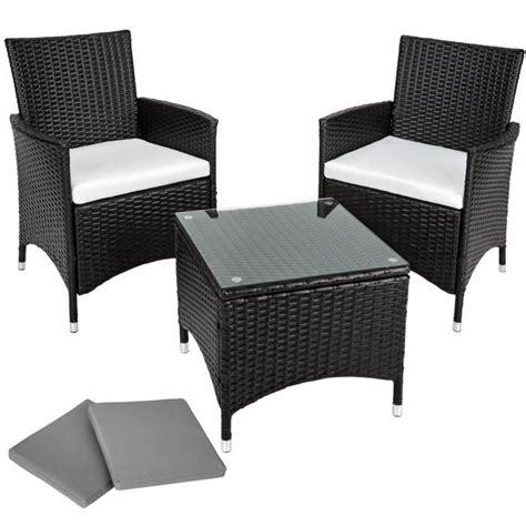 chaises et fauteuils de jardin salon de jardin ambre 2 chaises fauteuils et 1 table en résine tressée poly rotin structure