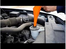 Add Power Steering Fluid to Ford Crown Victoria YouTube
