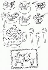 Coloring Tea Teapot Boston Clip Popular Coloringhome sketch template