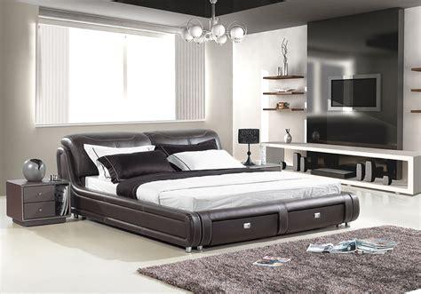 carol designer leather bed frame  storage fancy homes