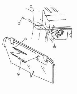 1997 Jeep Wrangler Nozzle  Liftgate Washer  Rear Wiper  Windowhard  Topglass  Hrd
