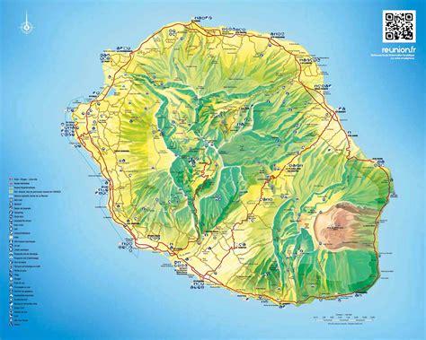 Ile De Tourisme Carte la r 233 union tourisme carte voyages cartes