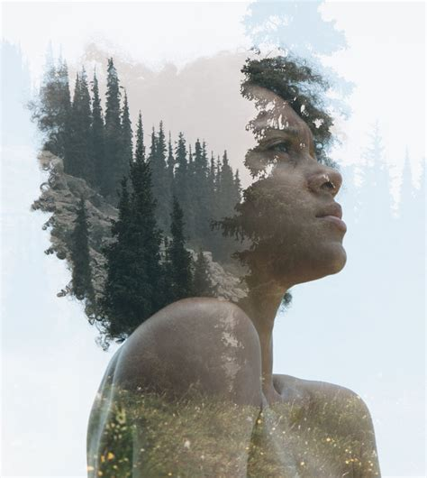 Dramatic Double Exposures Blending Portraits And Nature