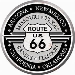 Route 66 Schild : signs usa route 66 rond schild retro wandbord metaal ~ Whattoseeinmadrid.com Haus und Dekorationen