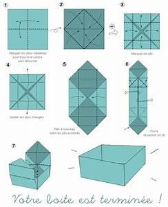 Comment Faire Une Boite En Origami : tuto origami boite facile ~ Dallasstarsshop.com Idées de Décoration