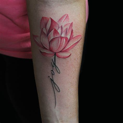 cap tattoos tattoos capone joy lotus flower