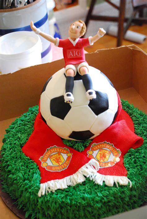 Grooms Soccer Ball Manchester United Cake