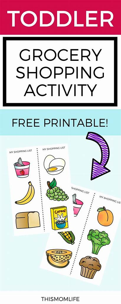 Grocery Toddler Shopping Worksheet Printable Activity Toddlers
