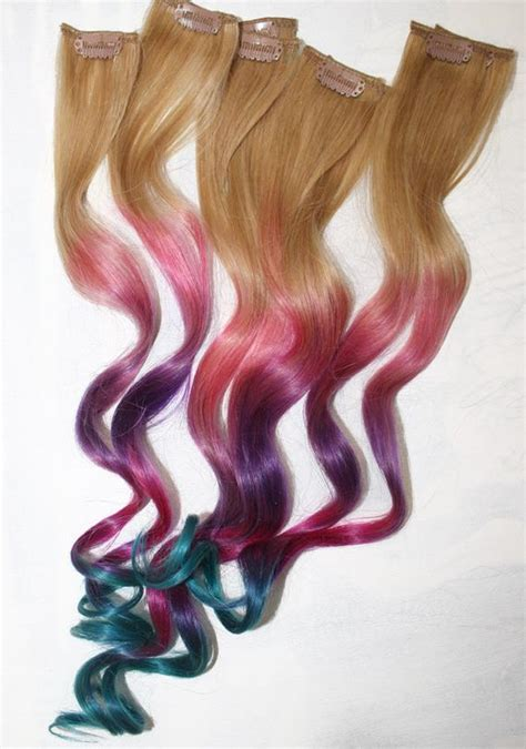 Ombre Tie Dye Hair Tips Dirty Blonde Human Hair By
