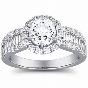1 carat diamond halo engagement ring offered by the With jewelry exchange wedding rings