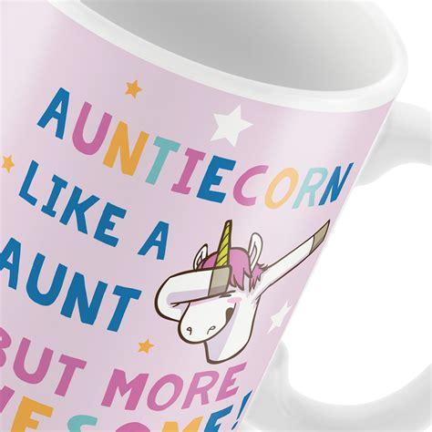 30th or 40th or 50th or 60th or 70th or 80th birthday gift for women. Auntie Gift AUNTIECORN Mug Unicorn Gift For Auntie ...