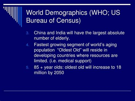 the bureau of census ppt the frail elderly powerpoint presentation id 2702293