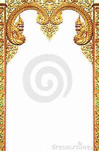 Thai Elephant Design Beautiful Thai Art Frame Stock Image Image 22082671