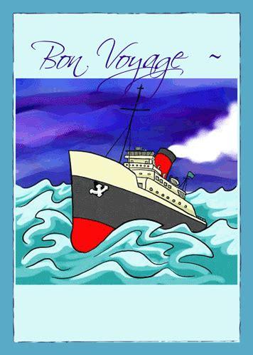 bon voyage   large cruise ship  bon voyage ecards