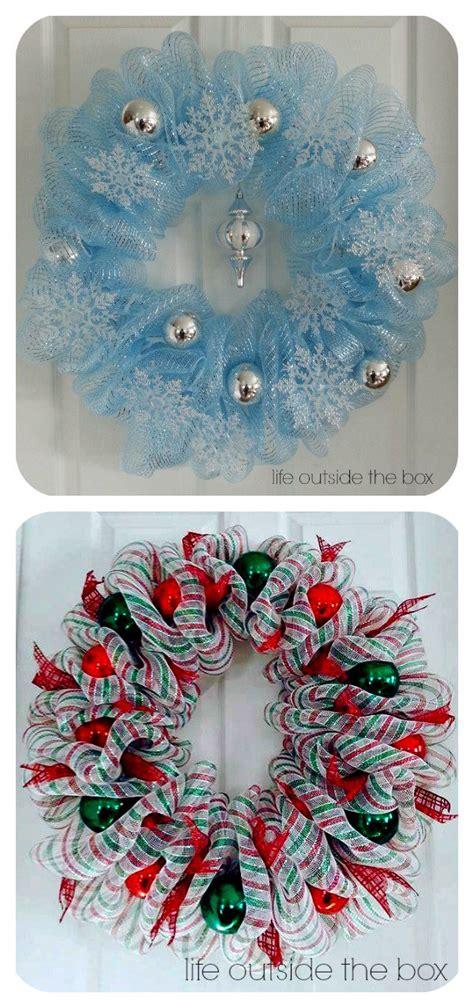 creative christmas deco mesh wreath ideas