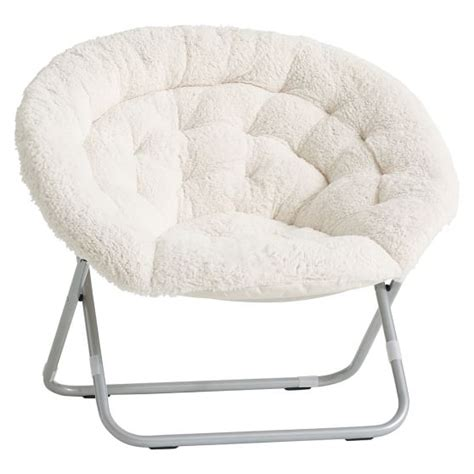 ivory sherpa faux fur hang a chair pbteen