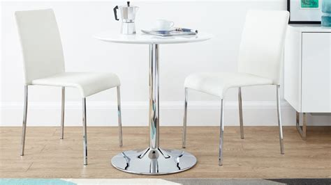 2 seat table set round white gloss 2 seater dining set stackable chairs uk