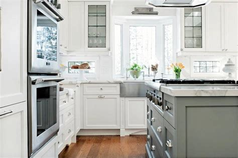 bay window sink transitional kitchen elizabeth metcalfe