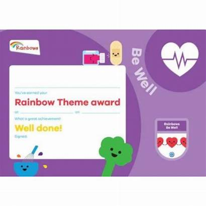 Certificate Well Award Rainbows Theme Scout Guide