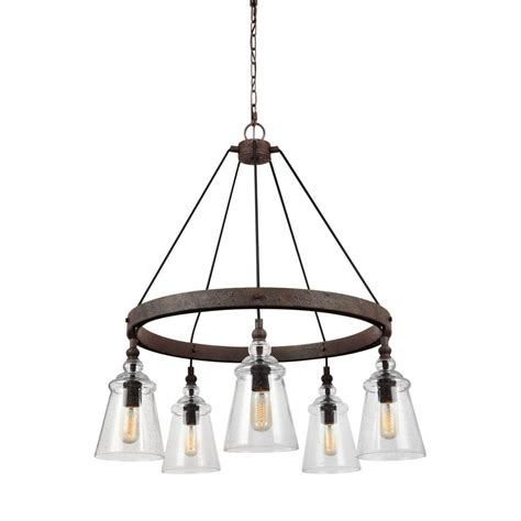 Iron Chandelier - commercial electric 3 light rustic iron chandelier ess8113